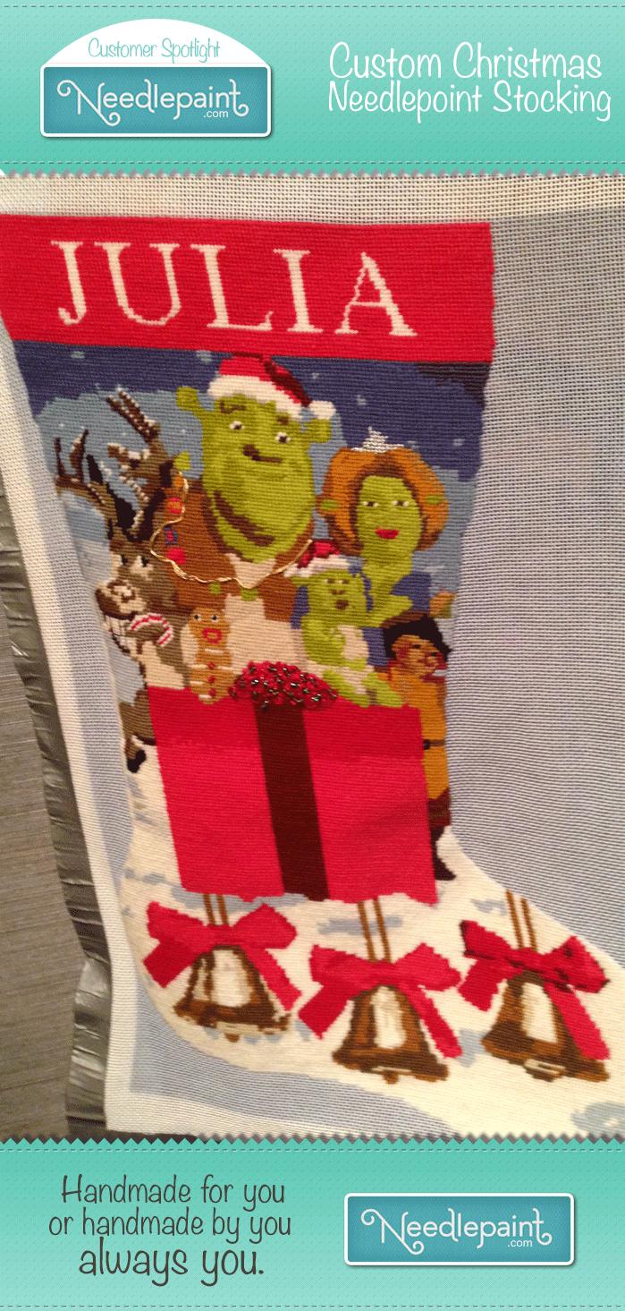 custom needlepoint stocking kit
