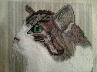 Custom Cat Needlepoint by Erica in Canada