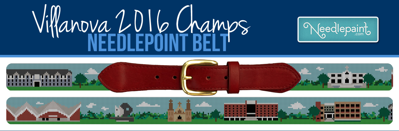 Villanova Basketball Needlepoint Belt