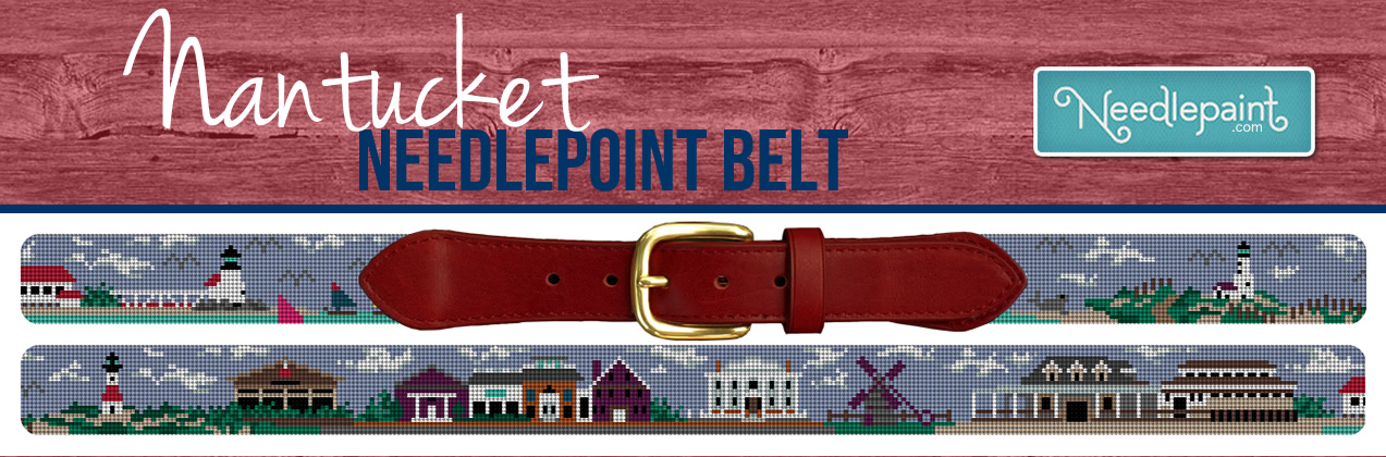 Nantucket Needlepoint Belt