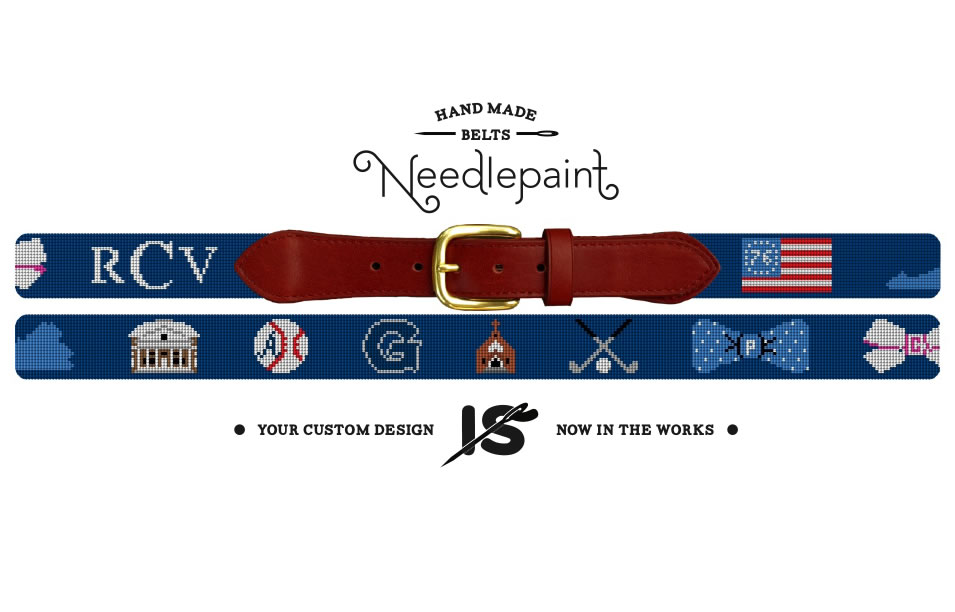 Custom Needlepoint Belt Gift Card
