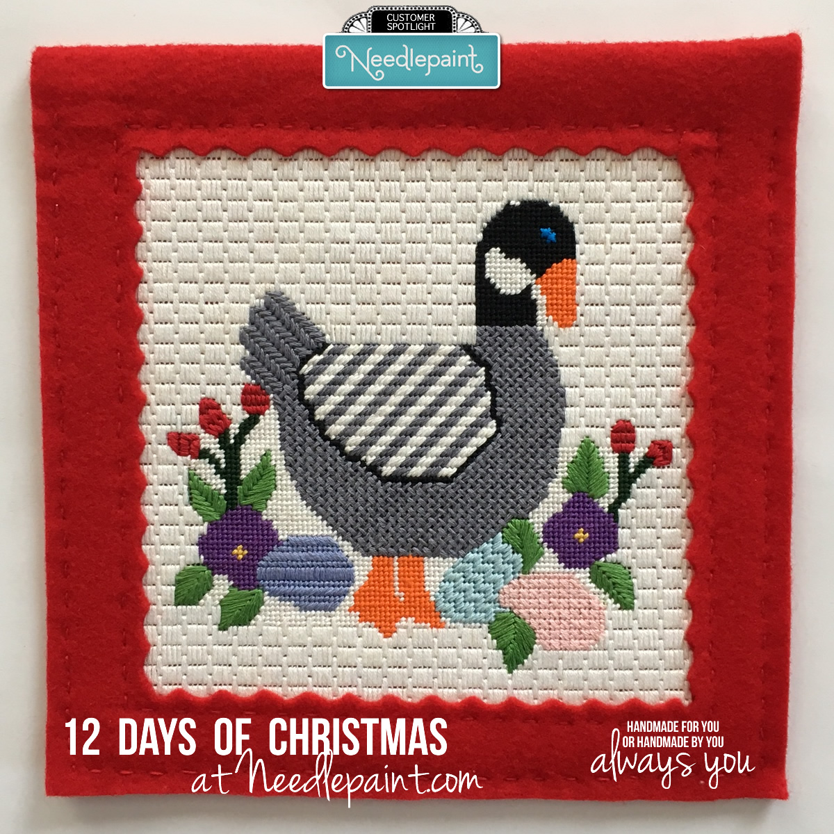 Six Geese A Laying Needlepoint
