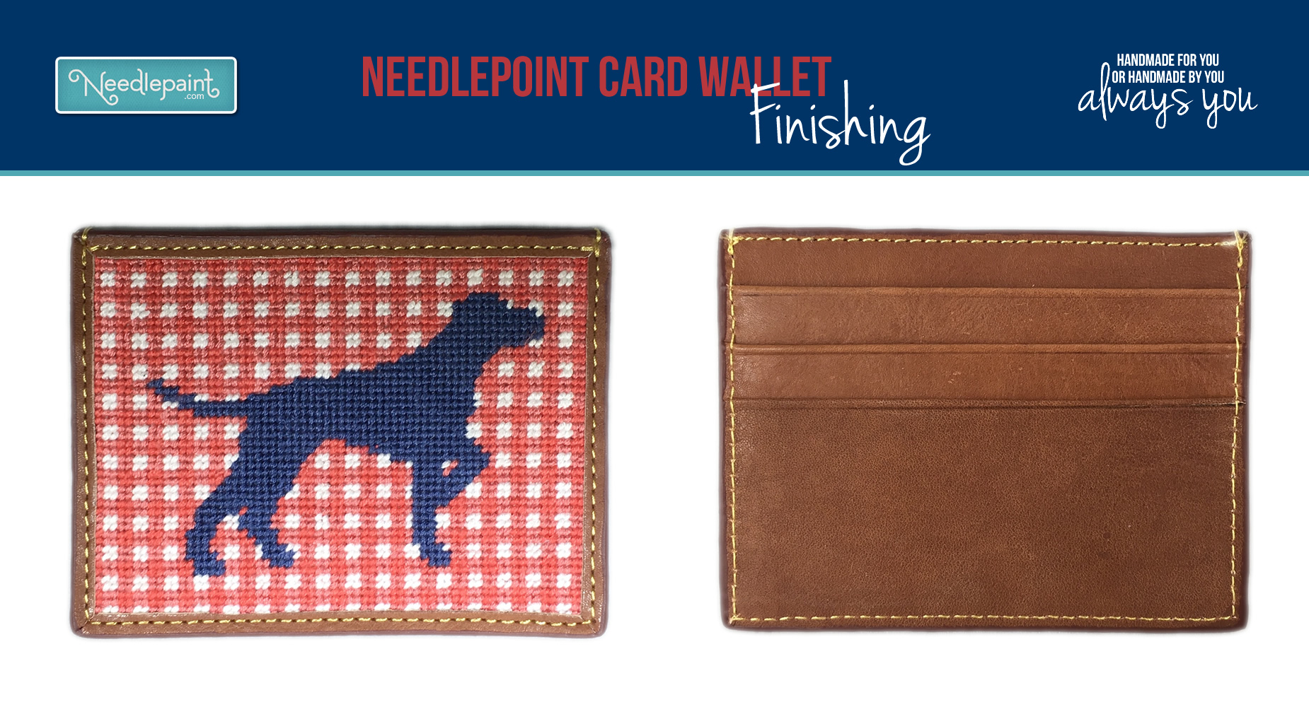 Needlepoint Card Wallet Finishing