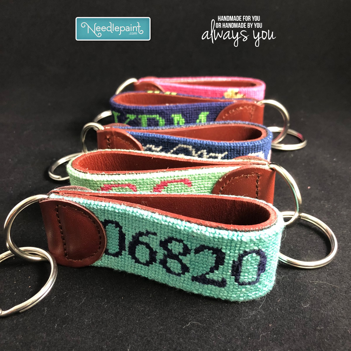 Needlepoint Key Fob Finishing