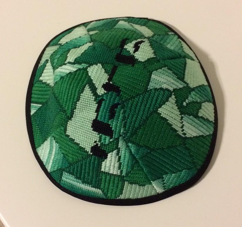 Finishing A Needlepoint Yarmulke Needlepoint Kits And Canvas Designs