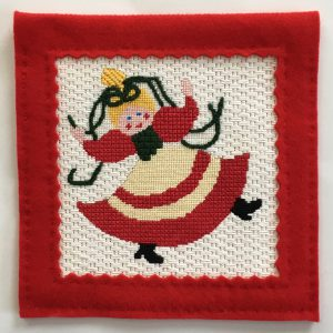 Nine Ladies Dancing Christmas Needlepoint