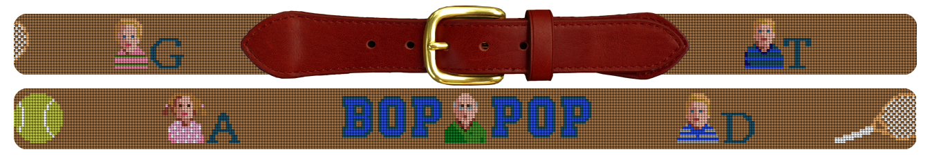 Image of Grandpa's Needlepoint Belt