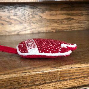 Needlepoint Chritmas ornament finishing
