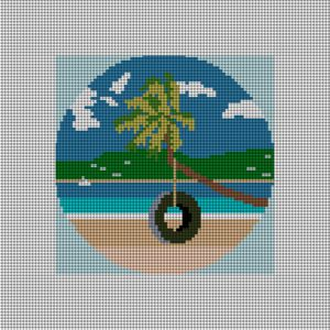 custom needlepoint ornament vacation