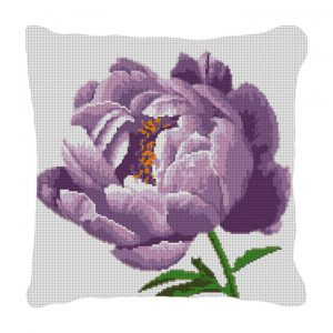 Peony Needlepoint pillow canvas