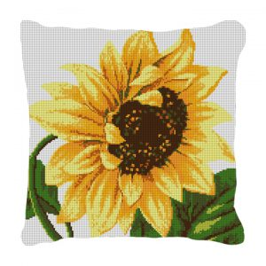Sunflower Needlepoint pillow canvas