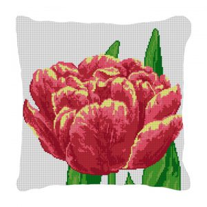 Tulip Needlepoint pillow canvas