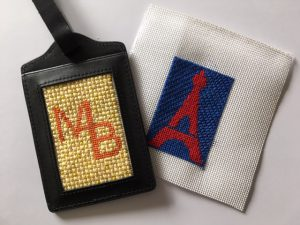 NeedlePaint luggage tag canvases