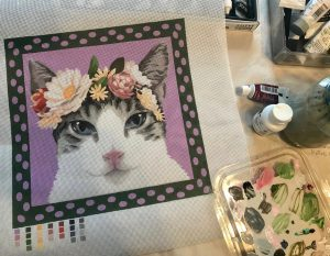 handpainted needlepoint canvas