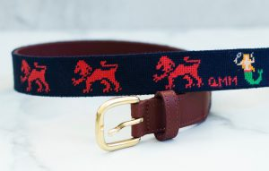 Family Crest Needlepoint Belt 2
