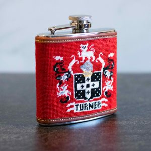 NeedlePaint family crest flask 1.4