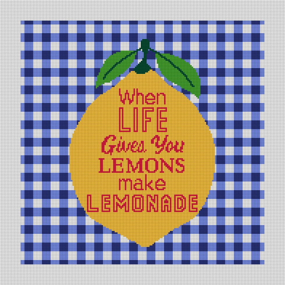 Lemons make Lemonade Needlepoint Canvas