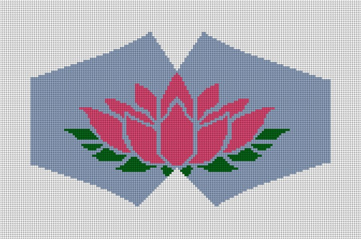 Lotus Blossom Face Mask Needlepoint Canvas