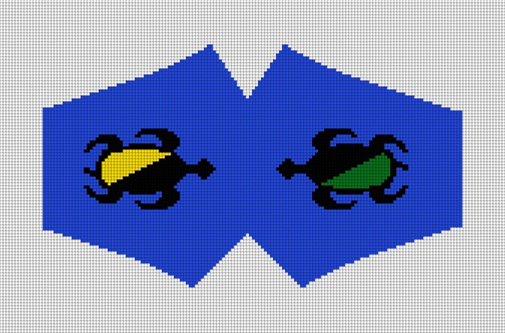 Sea Turtle Face Mask Needlepoint Canvas