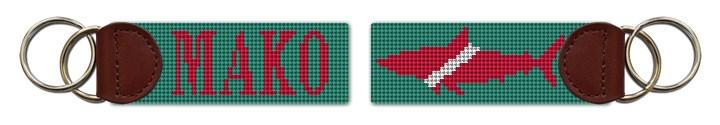 Mako Shark Needlepoint Key Fob Canvas