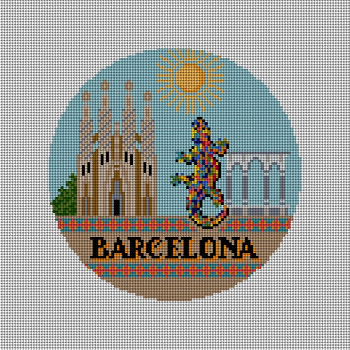 Barcelona Needlepoint Christmas Ornament Canvas