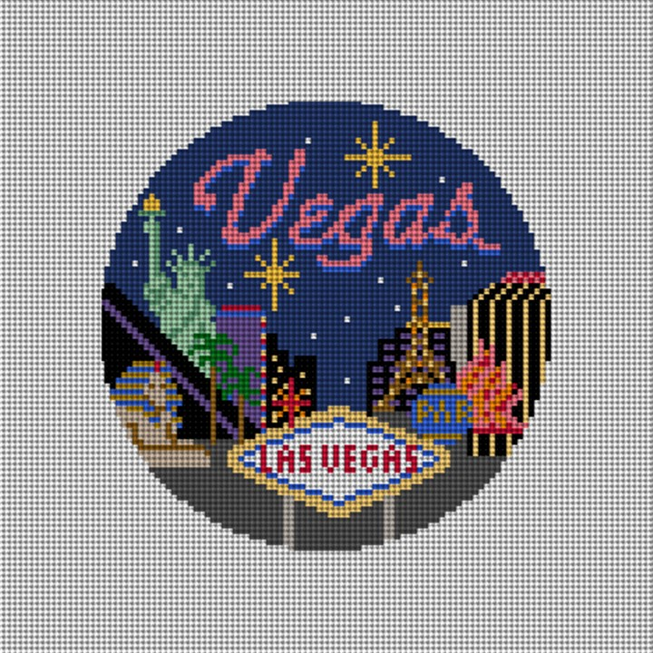 Las Vegas Needlepoint Ornament Canvs
