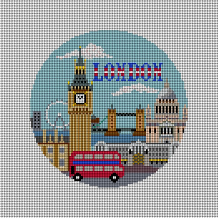 London Needlepoint Christmas Ornament Canvas