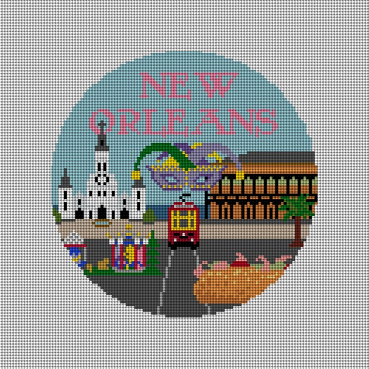 New Orleans Needlepoint Ornament Canvas