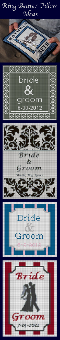wedding ring bearer pillow designs
