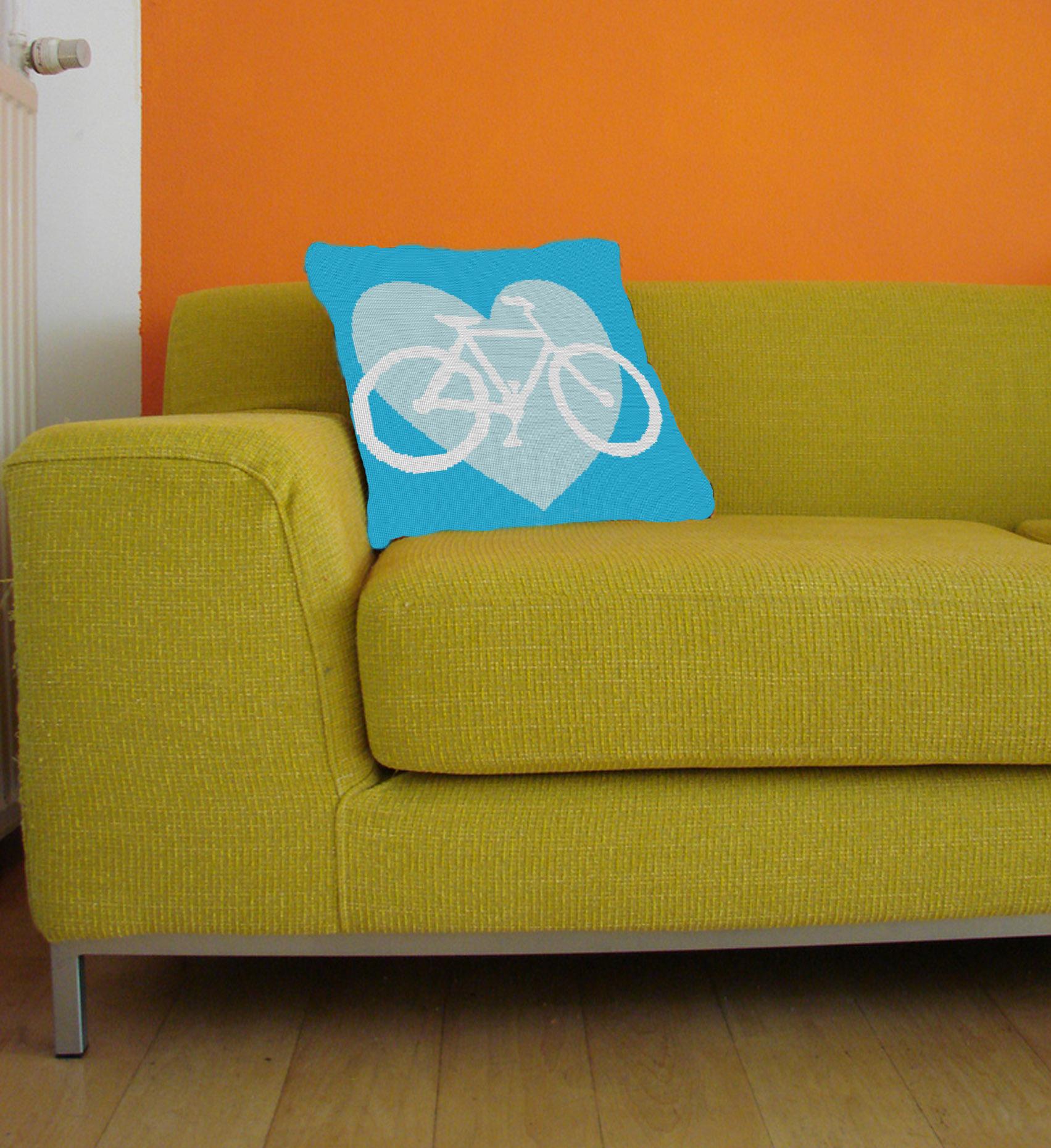 I Heart Bikes, blue colorway.