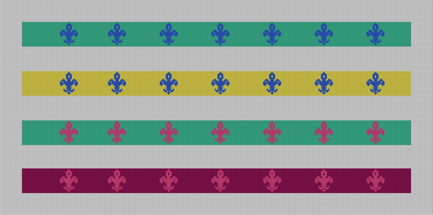 More Color Ideas for the Fluer De Lis Needlepoint Pattern