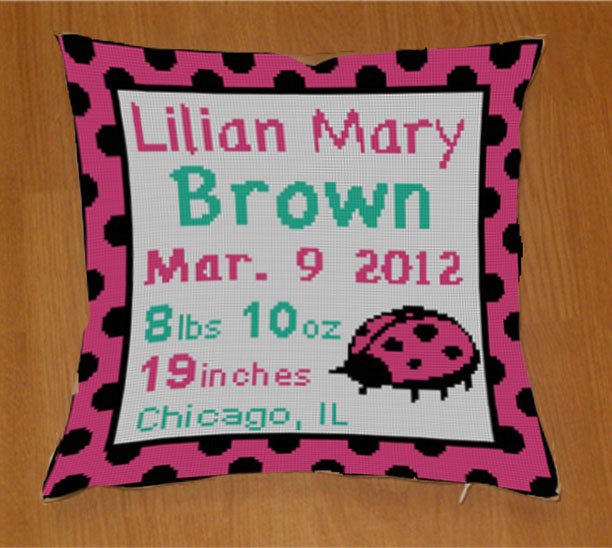 New pink lady bug canvas!