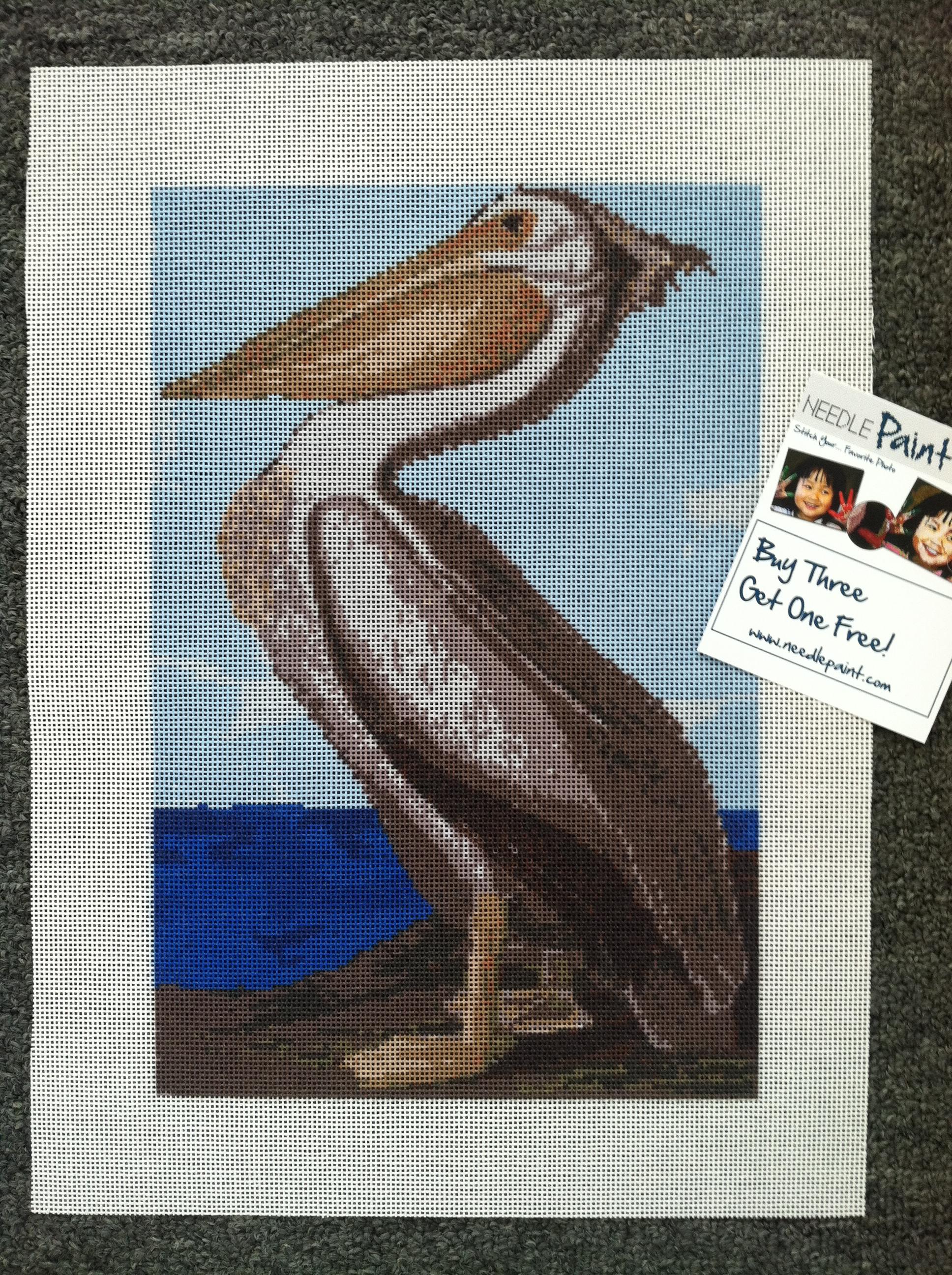 John James Audubon White Pelican Needlepoint Kit
