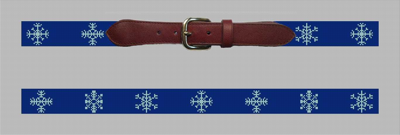 Snowflake Needlepoint Belt Preview