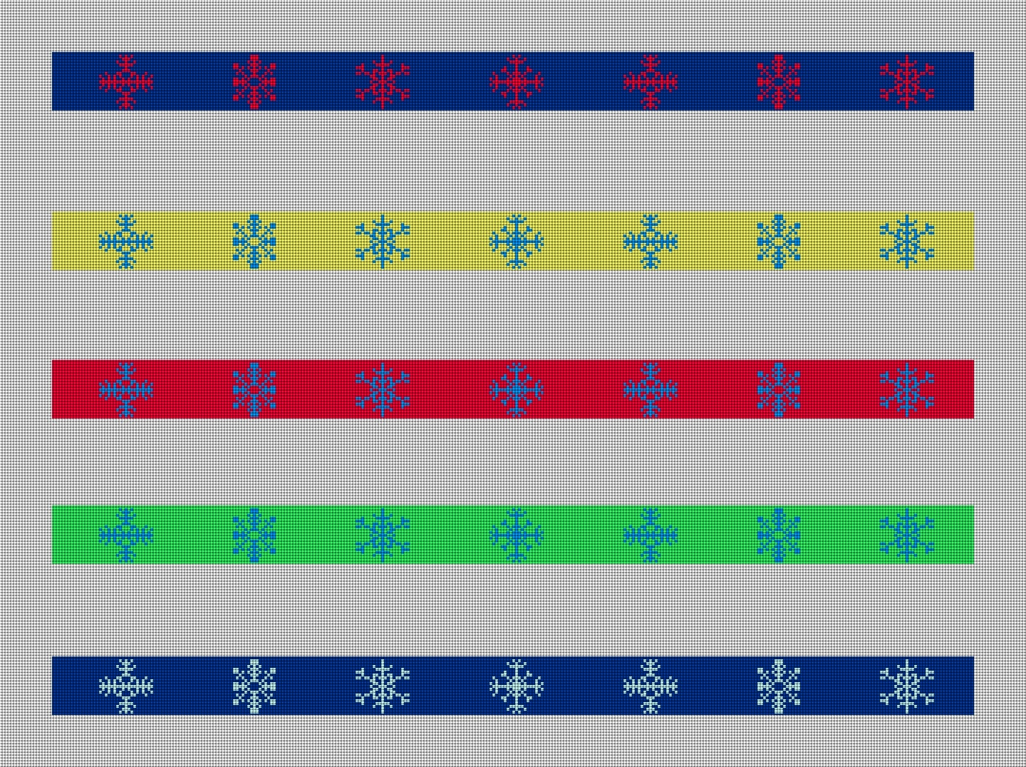 More Color Ideas for the Snowflake Needlepoint Belt