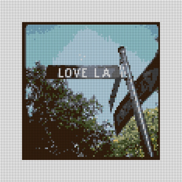 Love LA Needlepoint Canvas