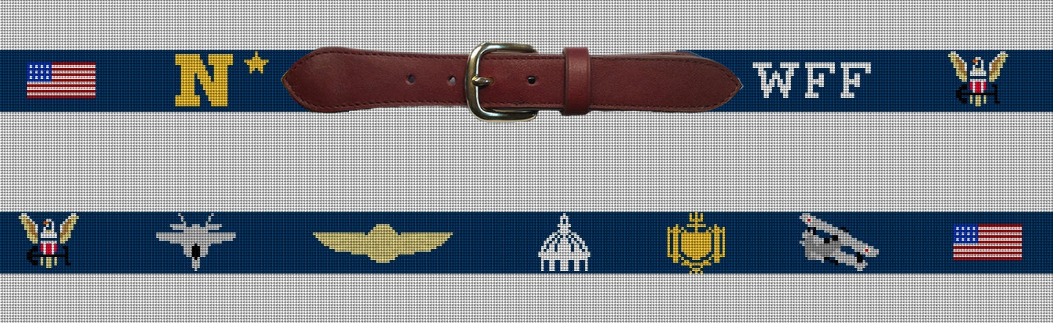 Preview of the Navy Needlepoint Belt