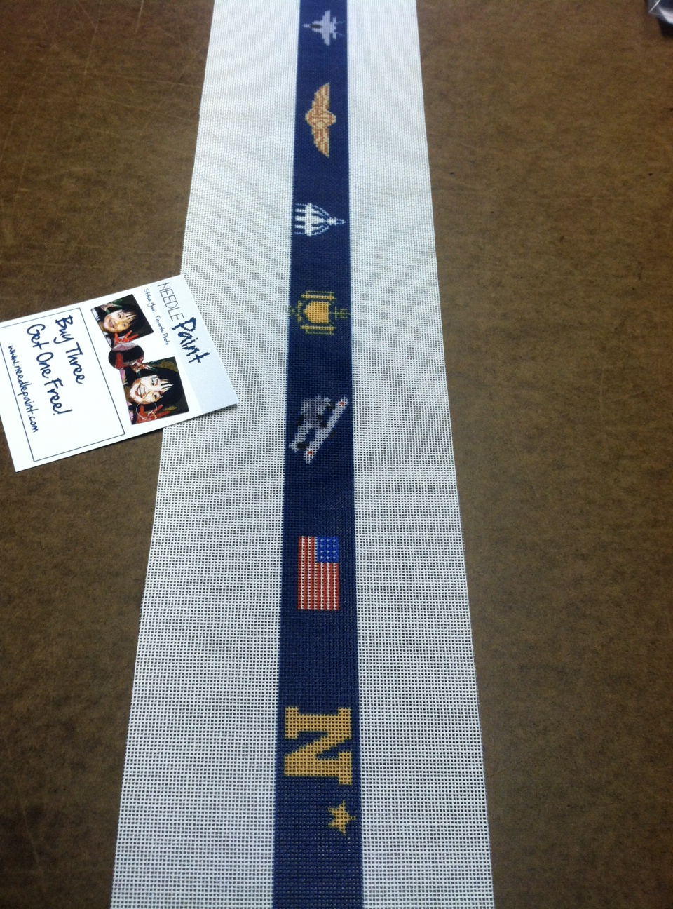 The Navy Needlepoint Canvas for a Belt
