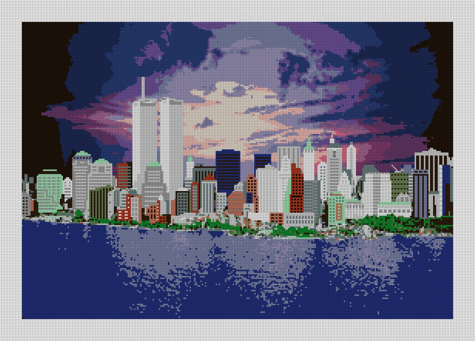 Manhattan Skyline Needlepoint Preview