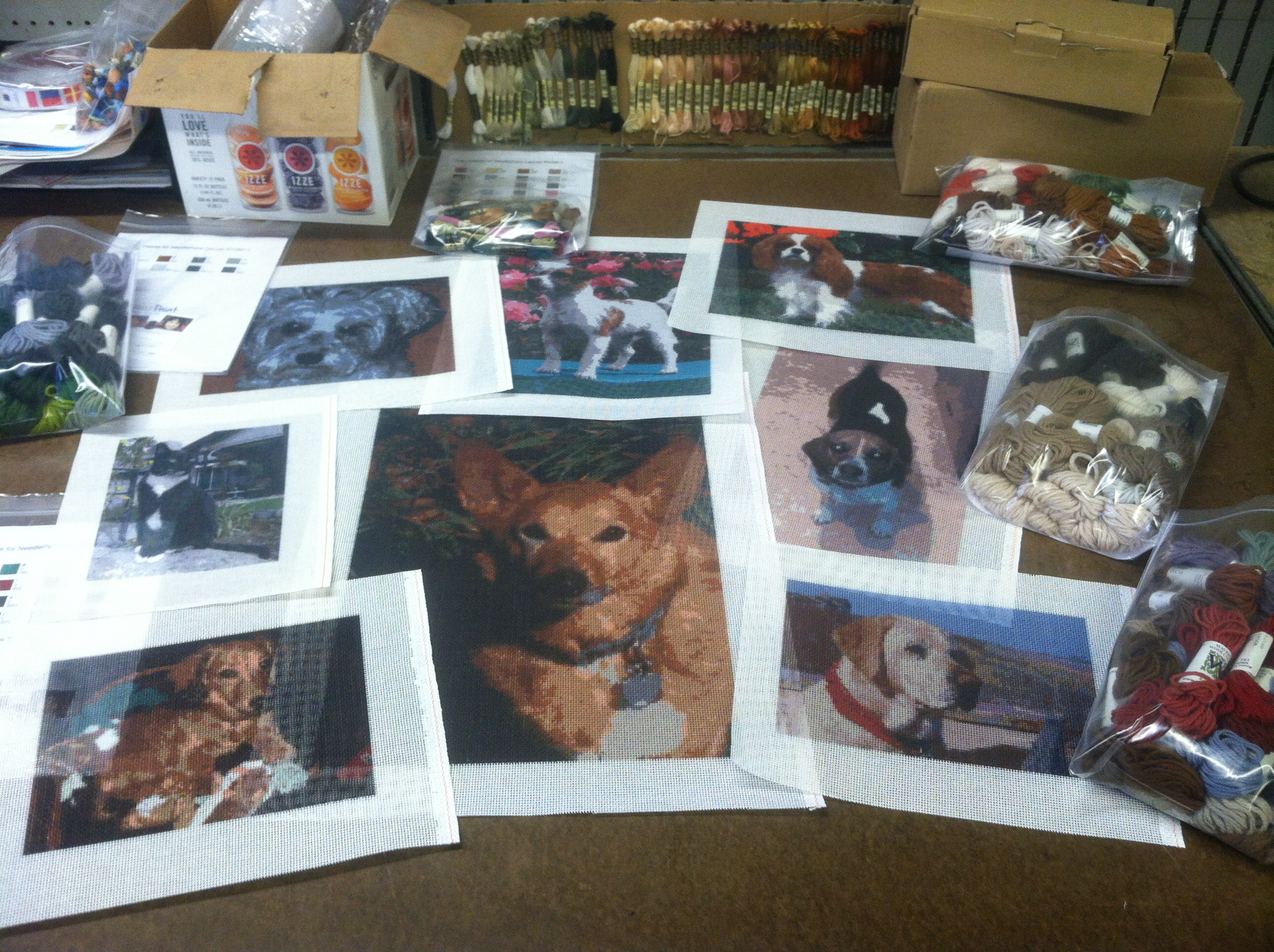 Dog Needlepoint Kits from Photos