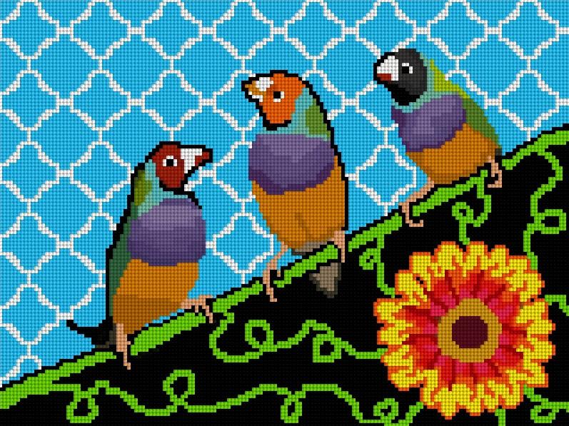 3 Birds Pillow