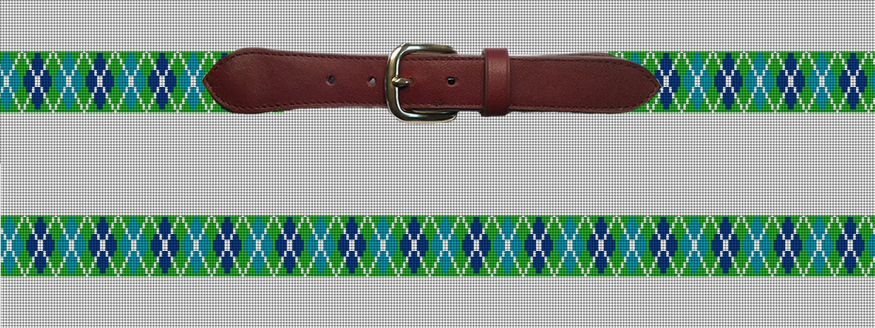 Green Argyle Needlepoint Belt Preview