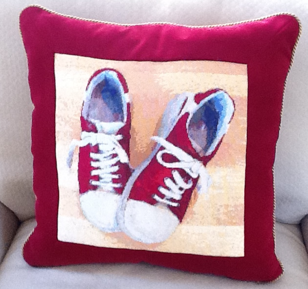 Red Shoes Needlepoint Pillow
