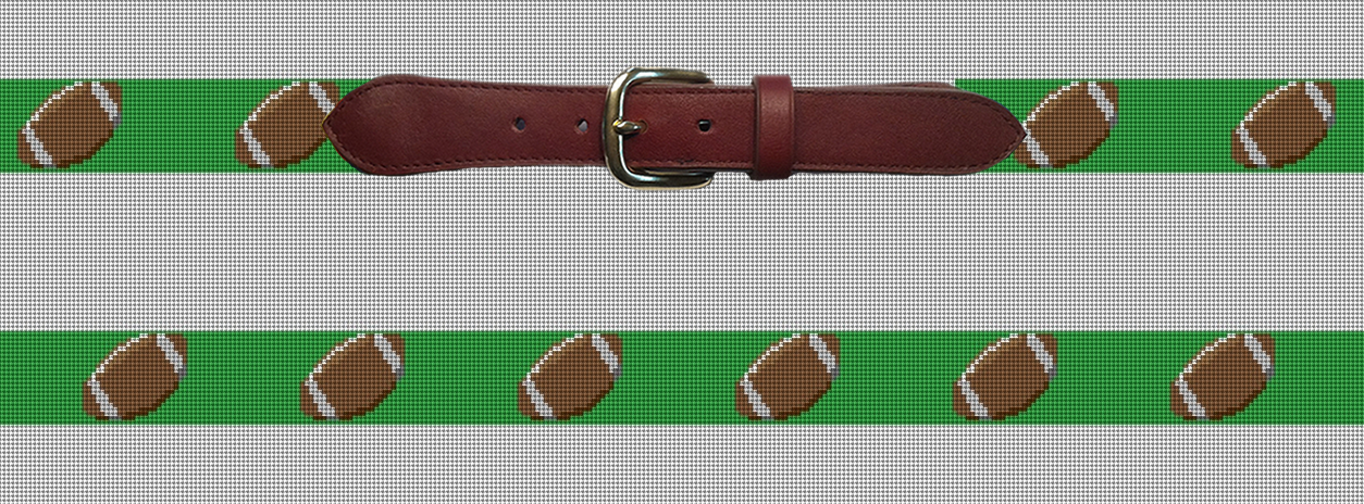 Football Needlepoint Belt Preview