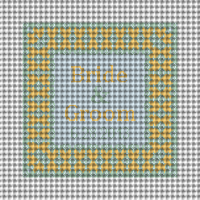 Grenelle Ring Bearer Pillow Needlepoint Canvas (Summer Color Option)