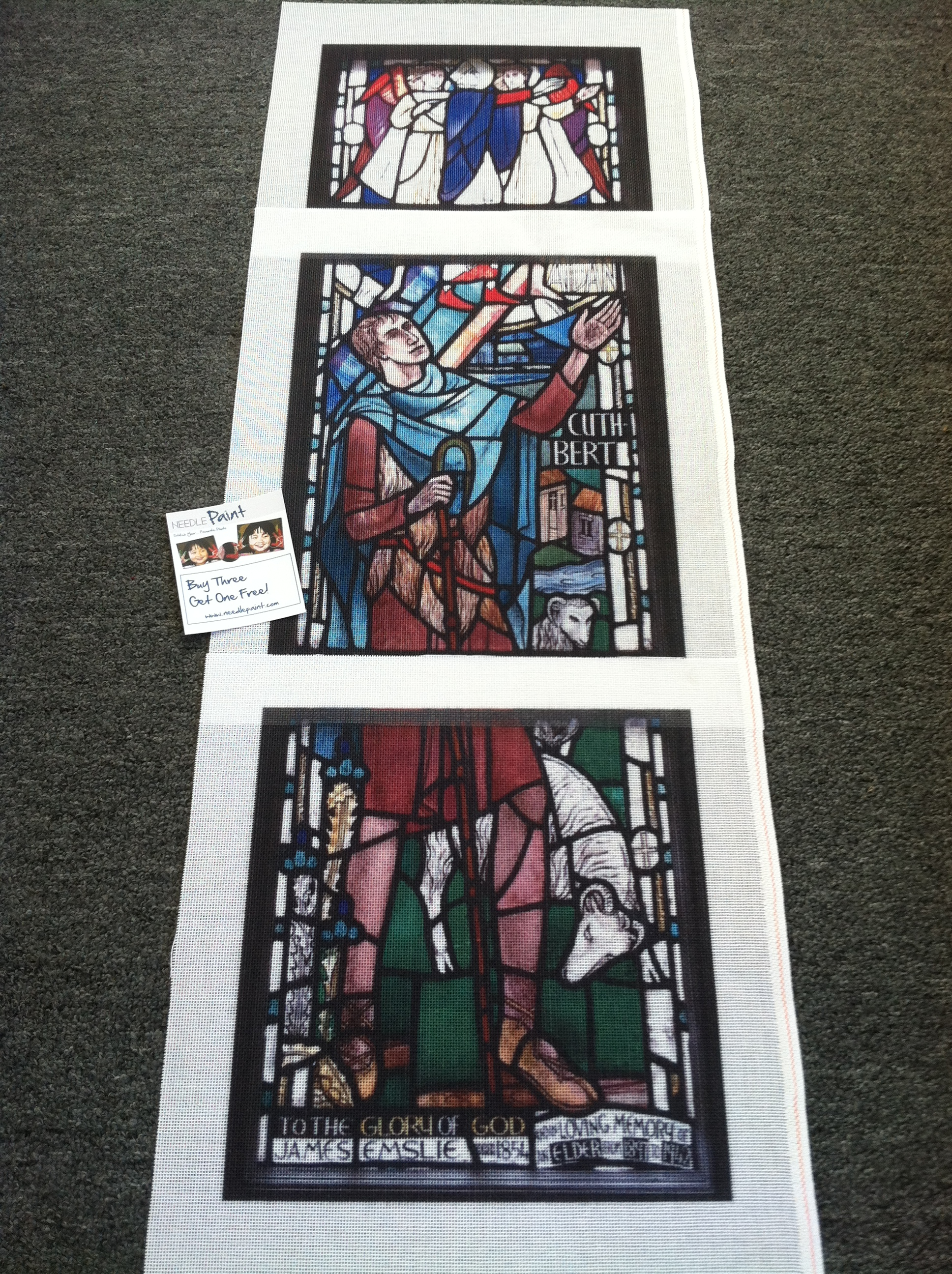 St. Cuthbert Stained Glass Photo Needlepoint Kit