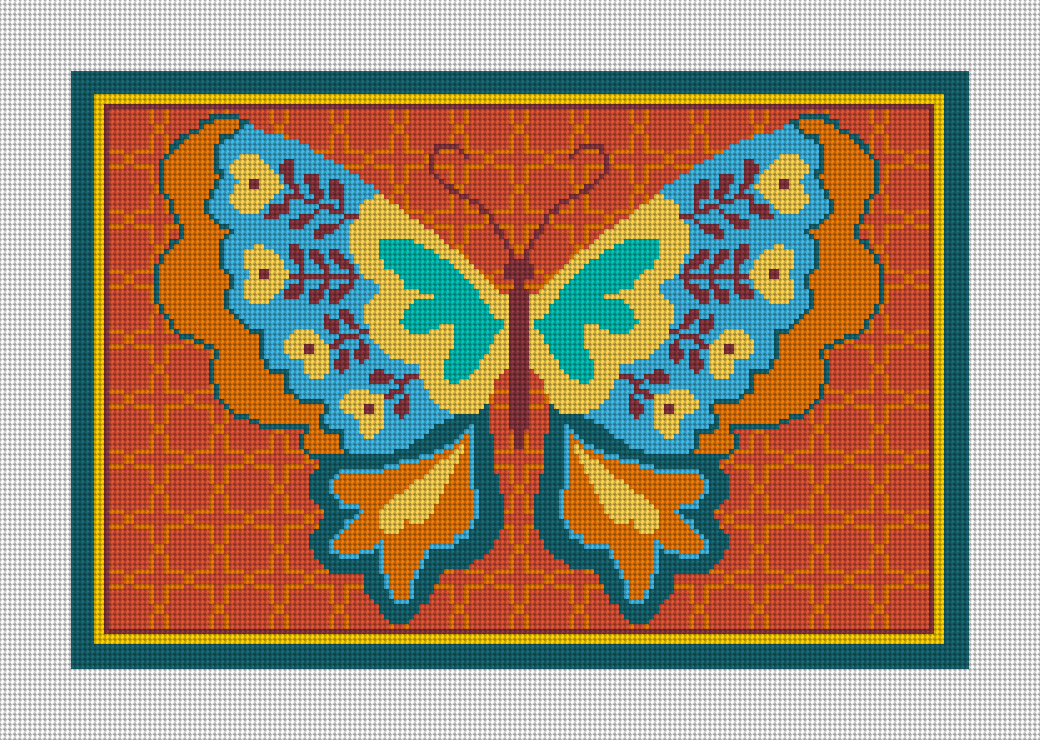 Butterfly Joy Needlepoint Canvas