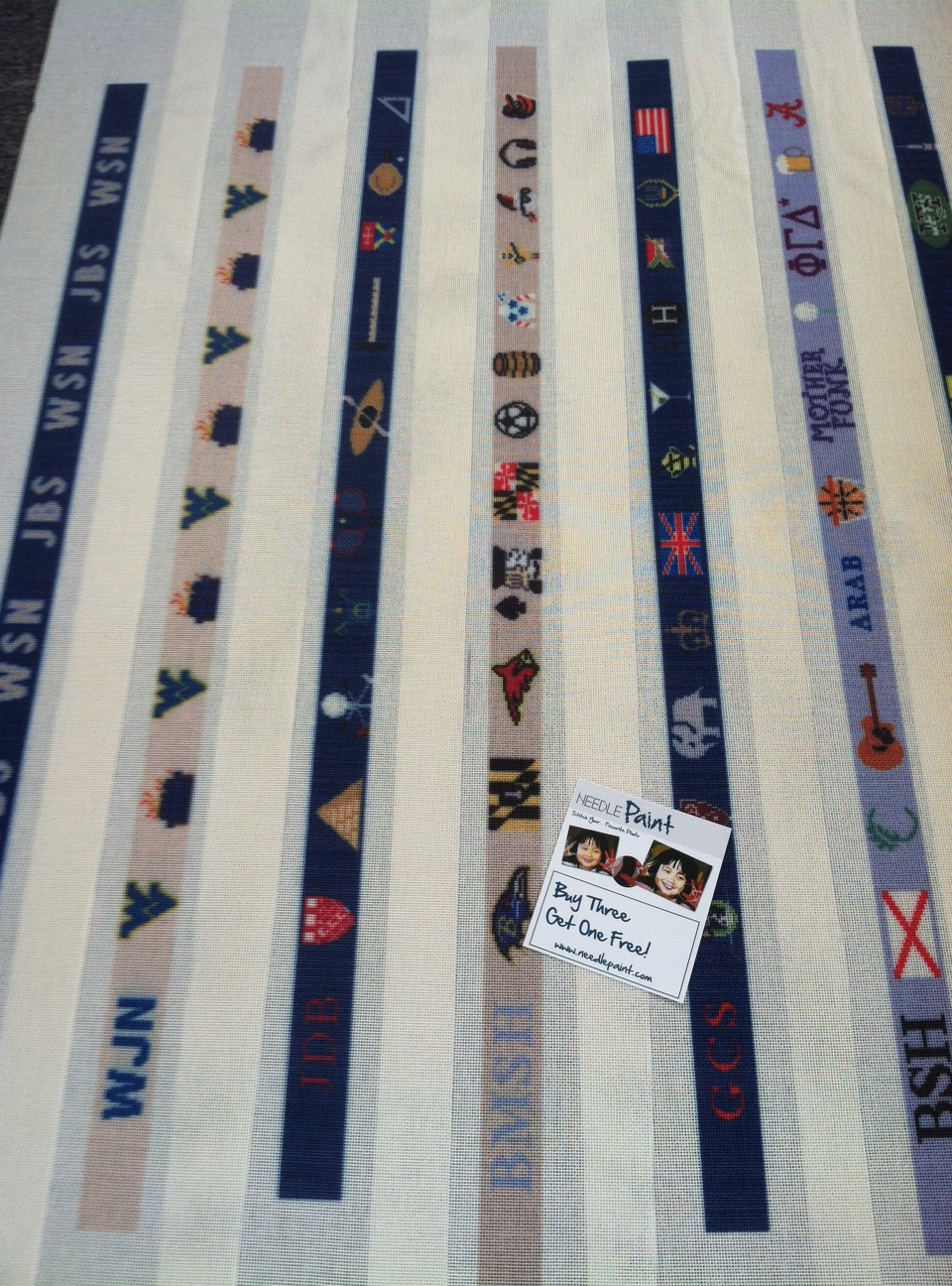 Custom Needlepoint Belt Canvas
