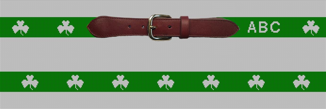 Lucky Irish Custom Needlepoint Belt