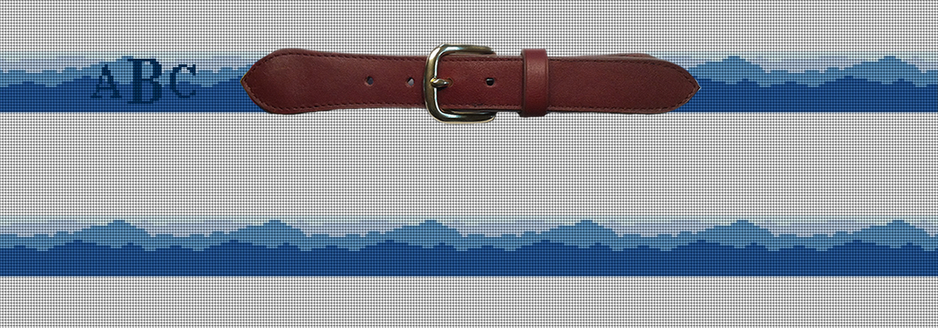 Blue Ridge Mountains Needlepoint Belt